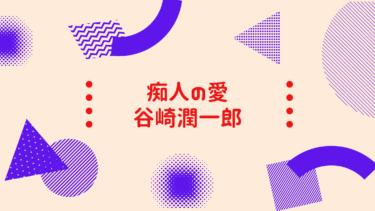 『痴人の愛』:読書感想文(谷崎潤一郎編)